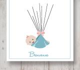 invitations et d co imprimer th me rayures baby shower. Black Bedroom Furniture Sets. Home Design Ideas
