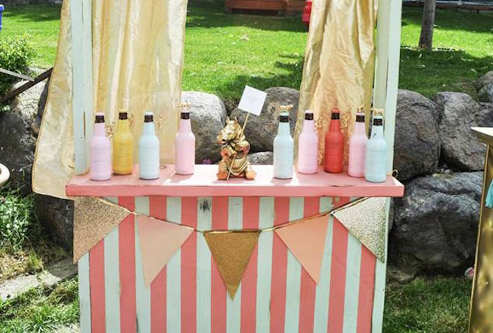 Candy bar thème festival de couleurs et carnval