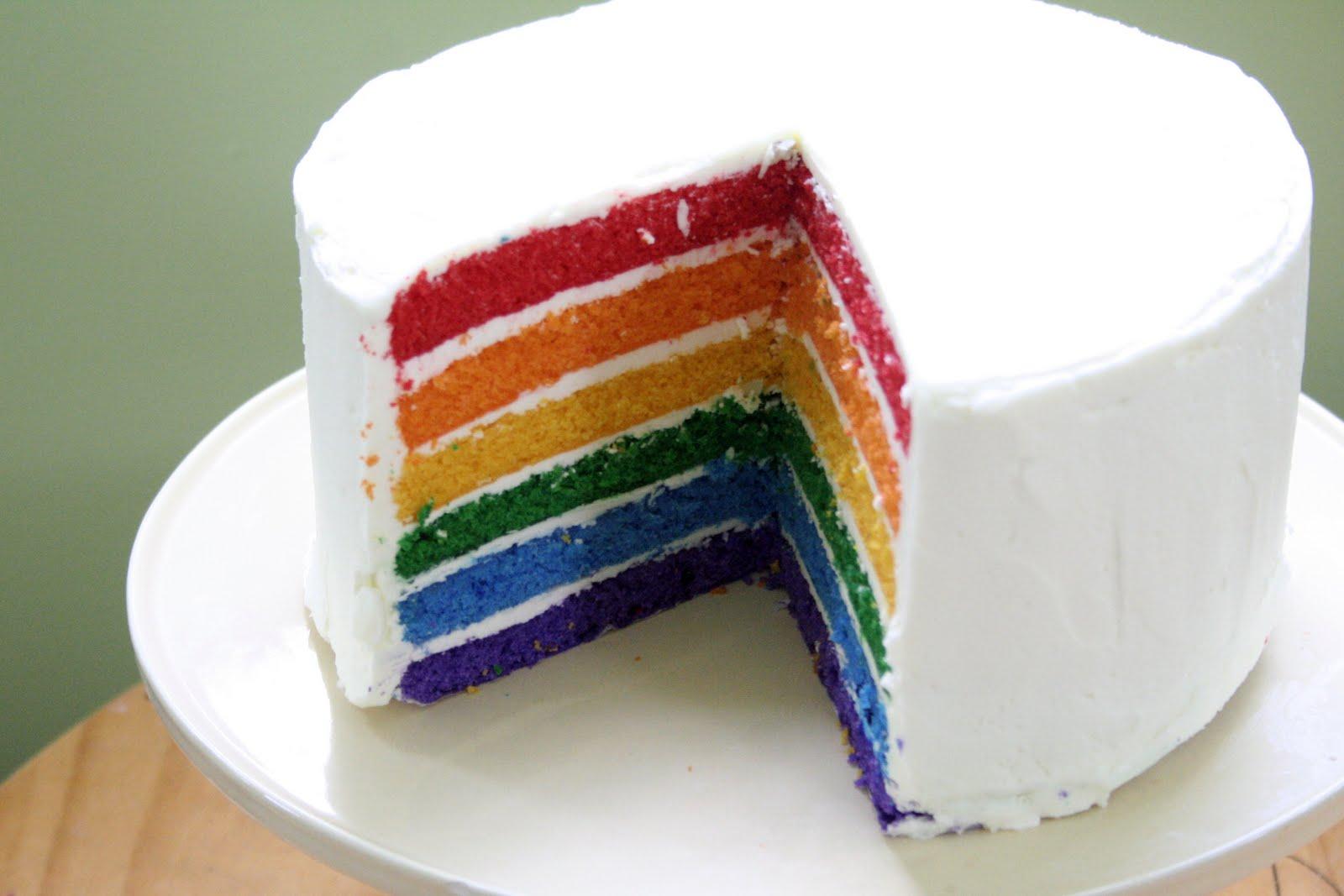 Recette Rainbow Cake Chocolat Blanc